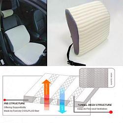elastic mesh lumbar cushion