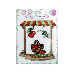 100% fruit vendor embroidered sticker package