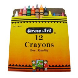 12pcs regular crayons