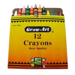12pcs regular crayons