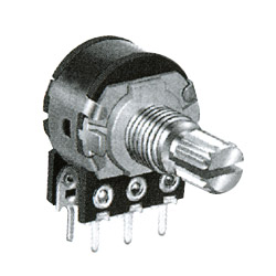 16mm dual units rotary potentiometers