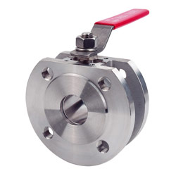 1pc wafer type flanged ball valve