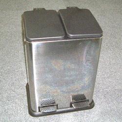 2 compartment pedal bin