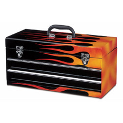 2 drawer fire flame chest