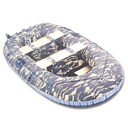 2 person wooden floor boat set