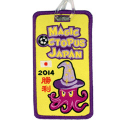 2014 japan football embroidered luggage tag