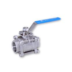 3 pc ball valves mounting pad