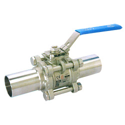 3-pc high purity ball valves