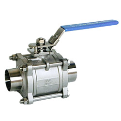 3 pc sanitary ball valve
