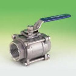 3 piece full port ball valves
