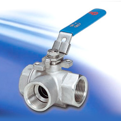 3-way reduced port ball valves