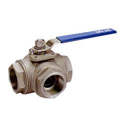3 way standard bore ball valves