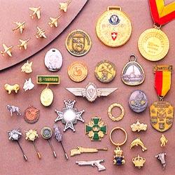 3D medals pins keyrings