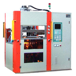 4 station index rotary injection molding machine