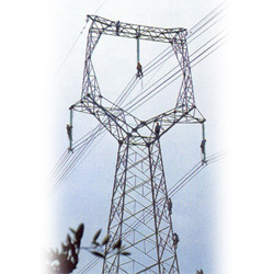500kv transmission line steel towers