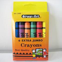 6 pcs extra jumbo crayons