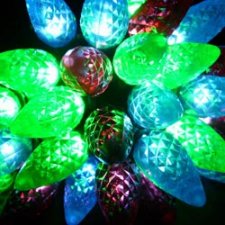 60l mutil faceted led c6 lights