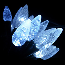 60l white faceted led c6 lights