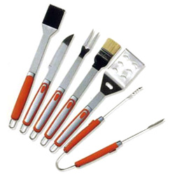 6pc soft handle bbq tool sets