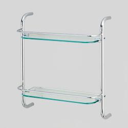 double glass towel shelves
