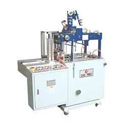 overwrapping machine with feeding hopper