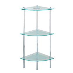 triple triangular glass shelves