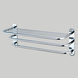 towel shelves with two bars
