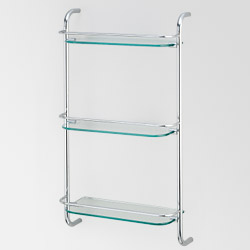 triple glass towel shelves