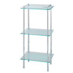 triple rectangular glass shelf