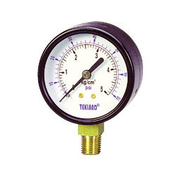 air and water pressure gauges