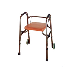 aluminum seated foldable walkers