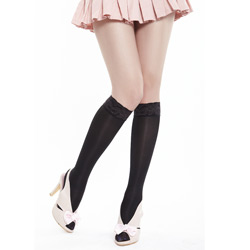 anti-varix lace knee silk socks