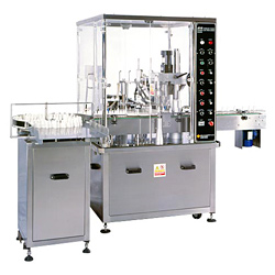 automatic filling plugging and over capping machine