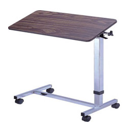 automatic tilted overbed tables
