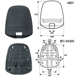back covers (office chair components)