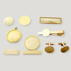 badges and tie clip plain