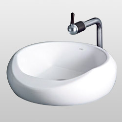 supported wash basins with faucet