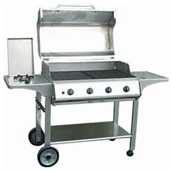 4 burner hood gas bbq grills