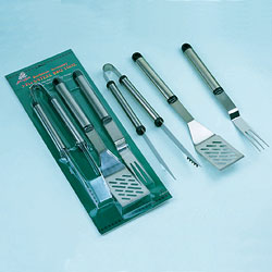 3pcs stainless steel bbq tool sets