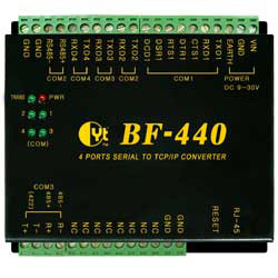 bf 440(m) 4 ports serial to tcp/ip converter