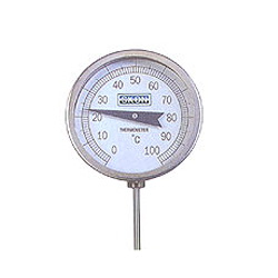 bi metal dial thermometers
