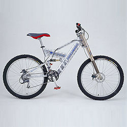 downhill type bicycle