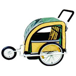 bicycle trailer, bicycle stroller.