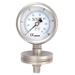 bottom flange pressure gauges