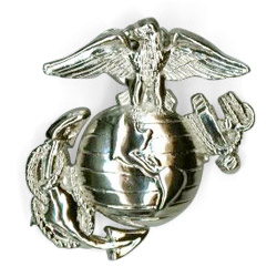 Brass Badges (USMC Logo)
