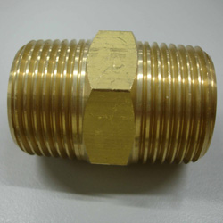 brass pipe and wind nut