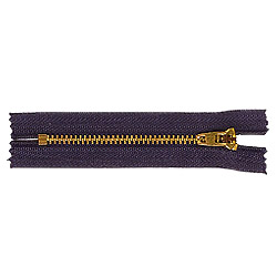 brass zippers