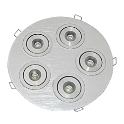brushed aluminum round led downlights