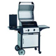 2-burner hooded gas bbq w/cabinet trolley