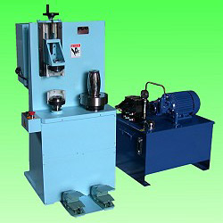 manual can body shaping and flanging machine